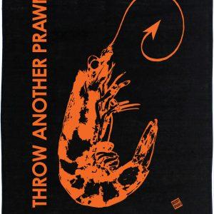 THROW ANOTHER PRAWN Linen Tea Towel
