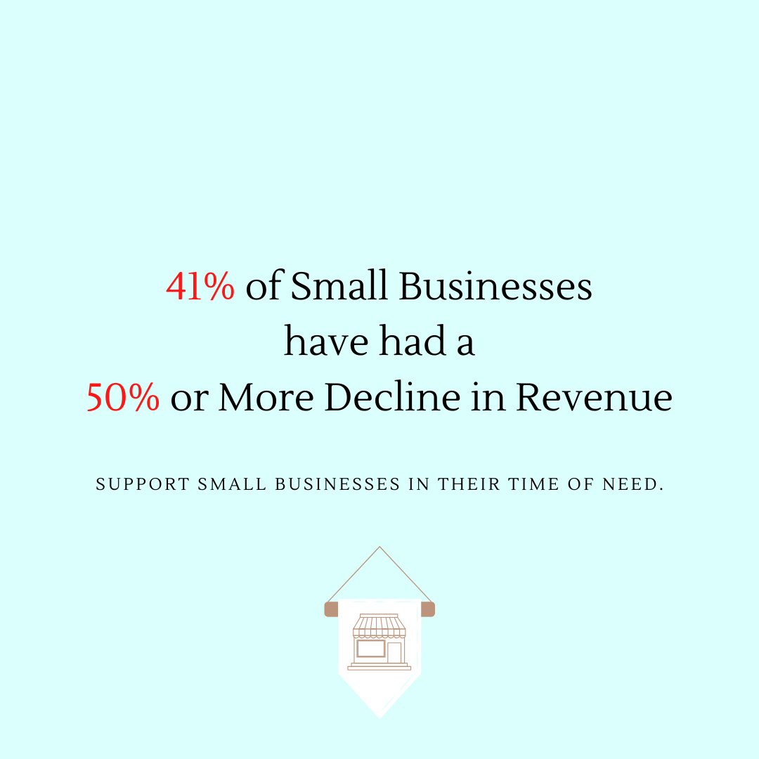 41% of Small Businesses Have Experienced a 50% or More Decline